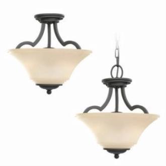 Sea Gull Lighting 77375-839 Two Light Semi Flush Convertible